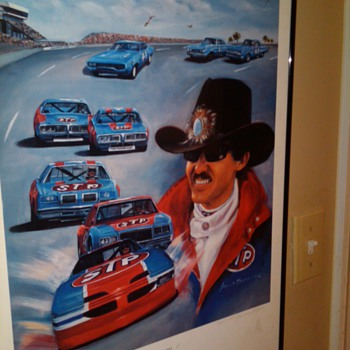 Autographed Richard Petty Print - Posters and Prints