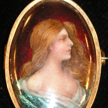 Enamel miniature brooch P.Bonnaud