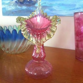 Pink and Red Glass - Victorian and 1920's - Art Glass