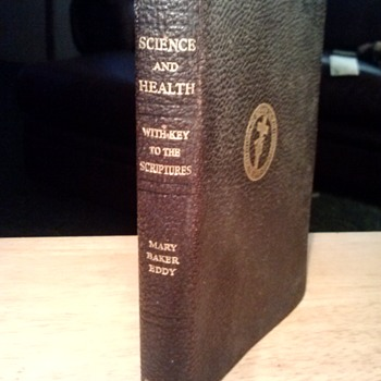 "LARRY AND LUCILLE BELL OF BELL AIRCRAFT -- HEAVILY USED "" SCIENCE AND HEALTH"" BOOK -  - Military and Wartime"