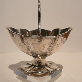 SILVER SUGAR BASKET/BON BON DISH - Sterling Silver
