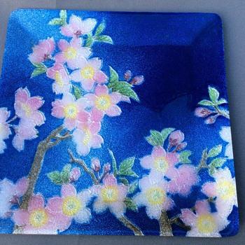 Japanese enamel plate