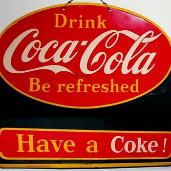 1951 Coca-Cola Menu Board (Canadian) - Coca-Cola