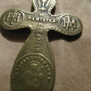 Very old brass cross