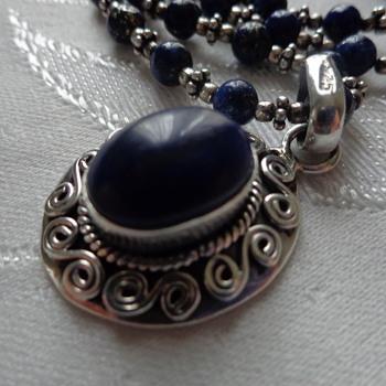 Lapis Lazuli Sterling Necklace