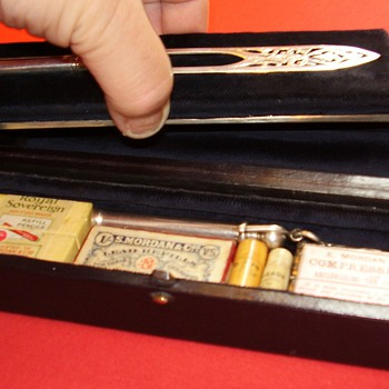 2nd: Sampson Mordan Victorian silver pencil set