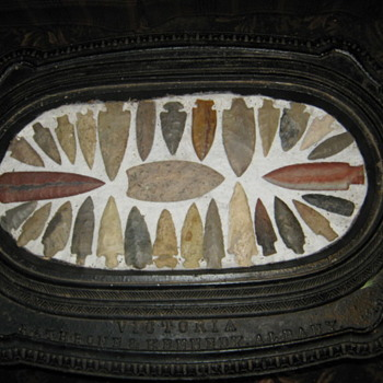 ARROWHEADS AND OLD STOVE PIECES