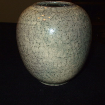"1950's CRACKLE VASE by ""KARLSRUHE"" POTTERY FACTORY"