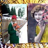 VINTAGE FRENCH REAL PHOTO POSTCARDS WITH VERY ODD HAND COLORING ENHANCEMENT