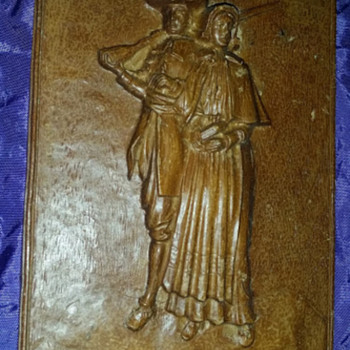 Colonial carved wood picture, very hard wood - Visual Art