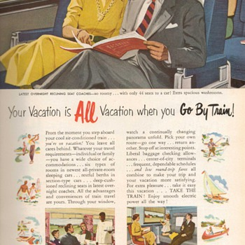 1951 - Pennsylvannia Railroad Advertisement - Advertising