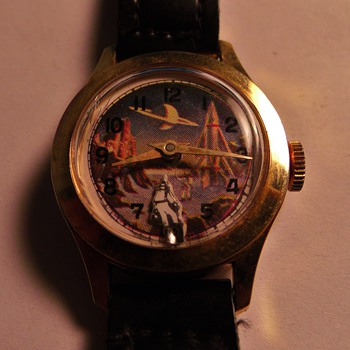 "Animated feature ""Spaceman"" wrist watch"