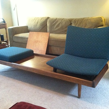 Mid Century Convertable Bench Table?