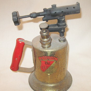 Vintage 1921 Clayton And Lambert Portable Brass Blow Torch   - Tools and Hardware