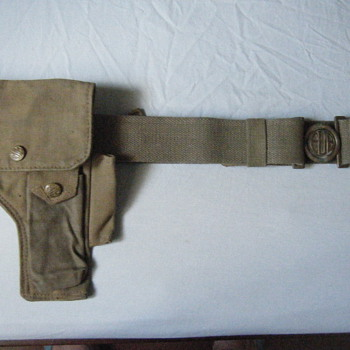 Rare BRAZILIAN PRE WWII REVOLVER & PISTOL  BELT - Military and Wartime