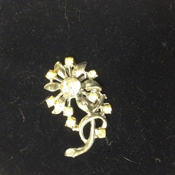 Beautiful rhinestone brooch