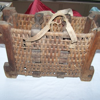 War World I or War World II Hungarian Bomb/Mortar Canister Carrier Basket - Military and Wartime
