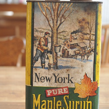 Unopened Old Can Pure Maple Syrup - Advertising