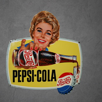 pepsi cola tin sign