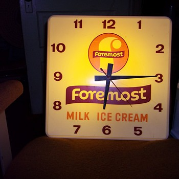 VINTAGE MILK CO. CLOCK - Advertising