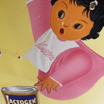 Nestlé Lactogen Switzerland Enamel Sign Art Deco 1930s - Advertising