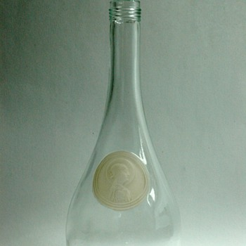 "french art deco wine bottle "" saint odile"" by RENE LALIQUE"