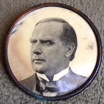 Late 19th Century William McKinley Photo Pinback Button
