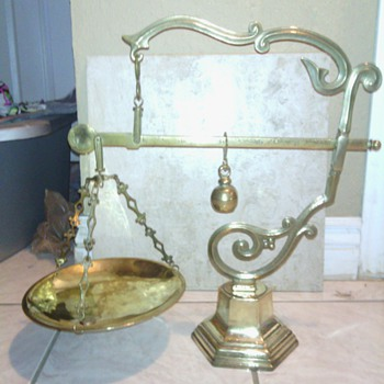mysterious brass scale from somewhere