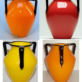 Tango 3-Handle: shape#1 Keystone tall - Art Glass