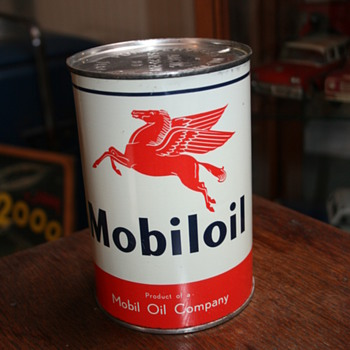 mobiloil quart oil can