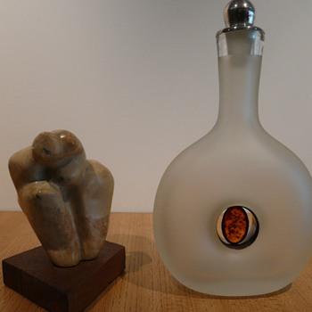 FORATO DECANTER INSET WITH AMBER - Art Glass