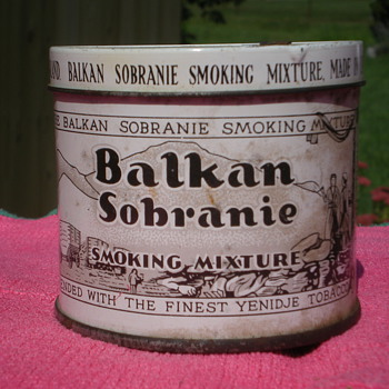 Balkan Sobranie smoking tobacco tin - Advertising