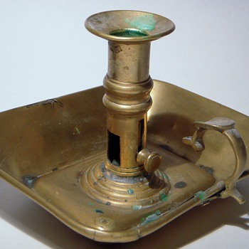 Old Brass RYTON WALTON Candlestick