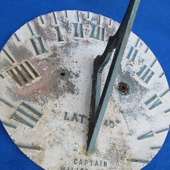 ships sundial marked capt. willis green