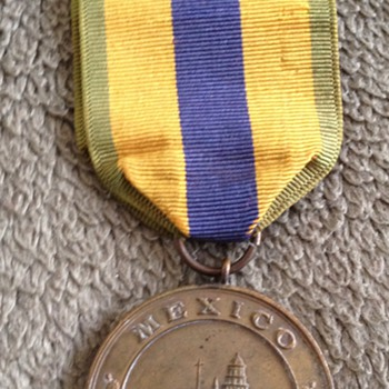 Rare Original USN Mexico Service Medal 1911-1917 - Military and Wartime