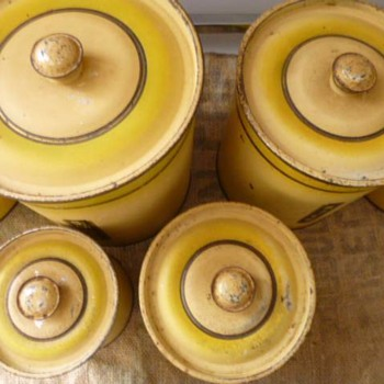 Art Deco 1930's Kitchen Canister set