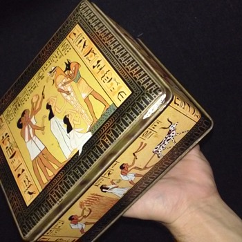 Egyptian themed tin of my grandfather's. - Advertising