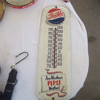 1950's PEPSI THERMOMETER - Advertising