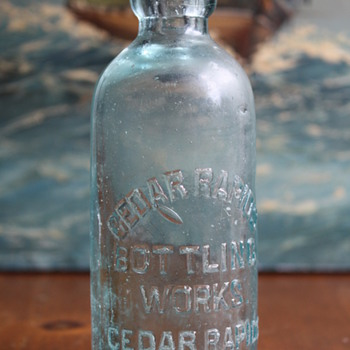 Cedar Rapids Bottling Works Bottle
