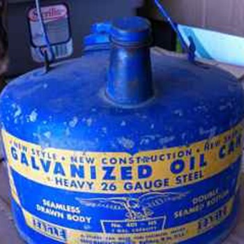 Blue Eagle Oil Can - Petroliana