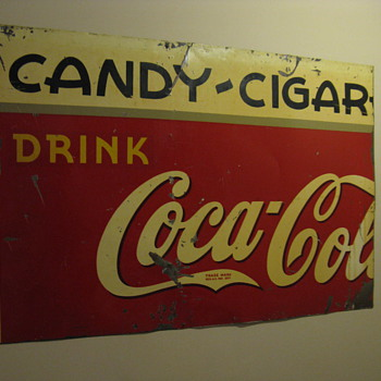 Candy ~ Cigar Coca Cola Sign and Flange Sign - Coca-Cola