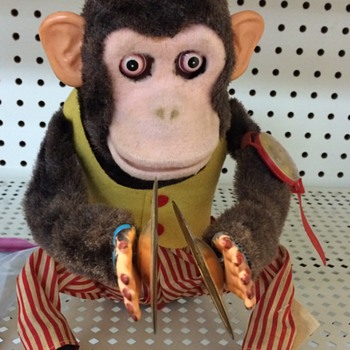 Vintage 1960s Battery Operated Monkey Toy - Toys
