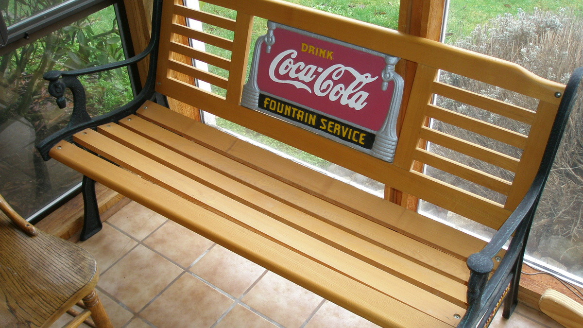 Coca Cola Park Bench Fan Etc Collectors Weekly