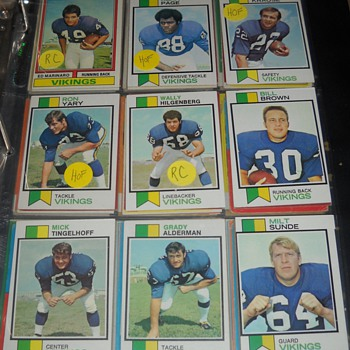 Skol Vikings! 1970-74 Topps cards