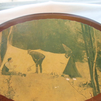 Old Australian Prospector/drover image on board - would like to know more - Photographs