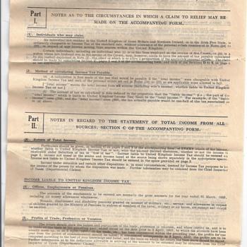 TAX FORM 1933-34 - Paper