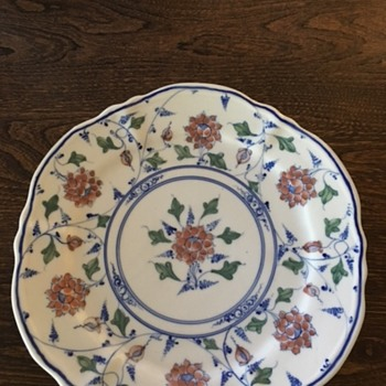 Hand-painted ironstone plate