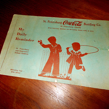 1930s Coca-Cola My Daily Reminder School Children&#039;s Log Booklet