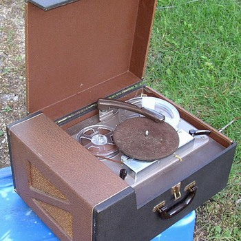 Phonograph Reel to Reel Combined Portable  - Electronics