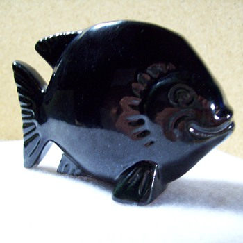 Frankoma - 185 - Fish Flower Holder. - Art Pottery